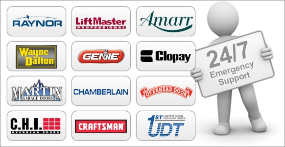 24 hour support on all major door brands